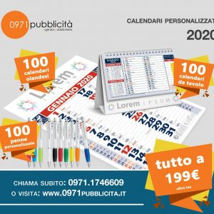 Kit 2020 (Calendari + penne personalizzate)