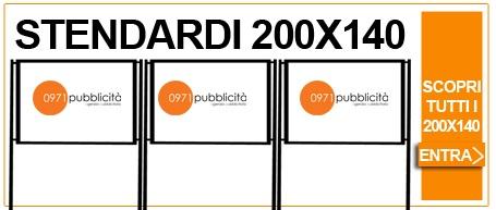 stendardi pubblicitari 200x140 e 70x100 a potenza