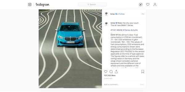 BMW coinvolge i fan con la sua campagna su Instagram