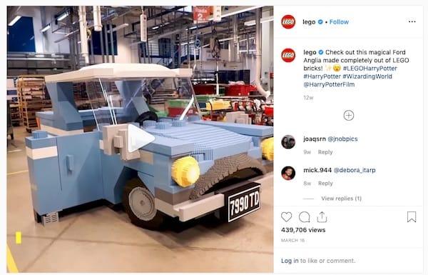 LEGO padroneggia l'arte della partnership tramite le campagne sui social media