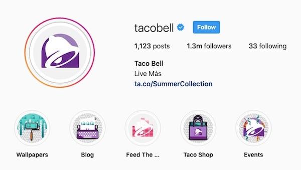 Taco Bell è un maestro di storytelling tramite campagne sul social media di Instagram